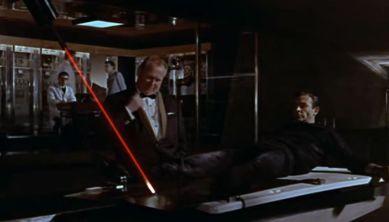 """""""Do you expect me to talk?"""" """"No, Mr Bond, I expect you to die!"""""""