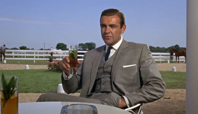 Goldfinger's prisoner, with Mint Julep.