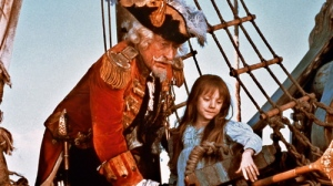Up in the air: John Neville and young Sarah Polley.