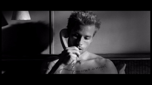 Guy Pearce in Memento.