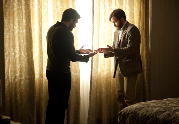Jake Gyllenhaal and Jake Gyllenhaal in Enemy.
