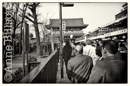 Approach to Sensoji temple.