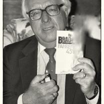 Ray Bradbury, writer. London, 1984.