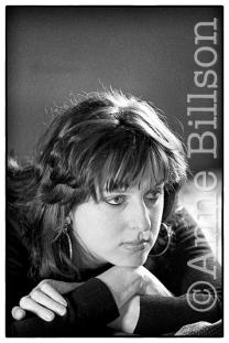 Julie Burchill, writer. London, 1989.