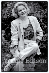 Carroll Baker, actor. London, 1984.
