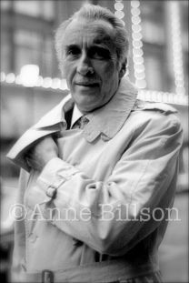 Christopher Lee, actor. London, 1984.