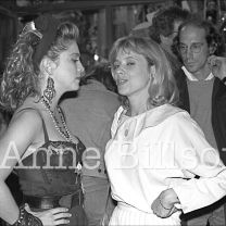 Madonna, musician, & Rosanna Arquette, actor. New York, 1983.