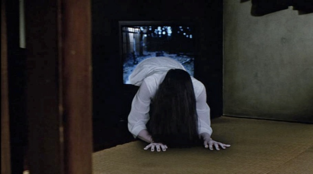The ghost of Sadako in Ringu (1998)