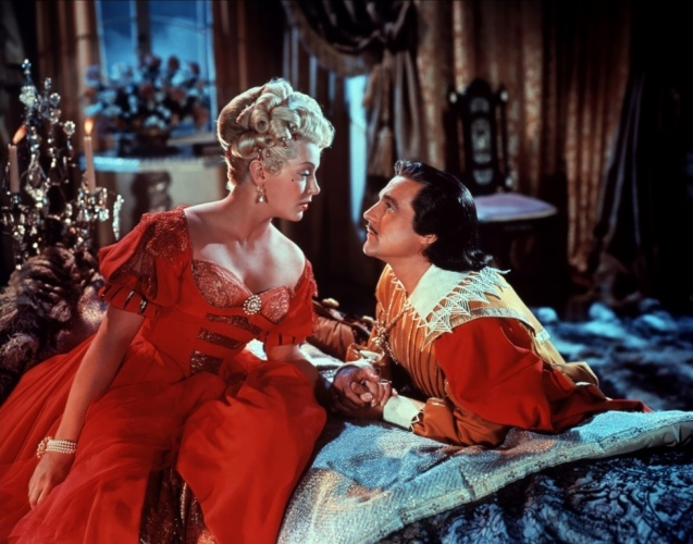 Lana Turner and Gene Kelly in The Three Musketeers (1948).