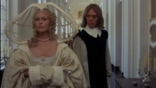 Faye Dunaway as Milady and Michael Gothard as Felton in The Four Musketeers (1974)