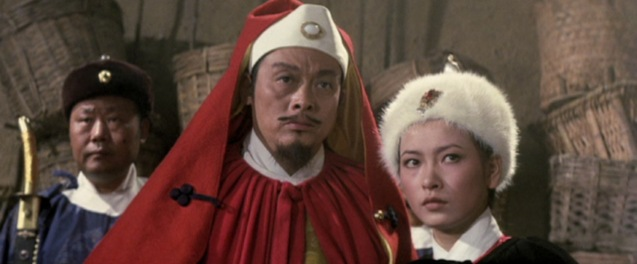 Tien Feng and Hsu Feng as Lee Khan and his sister - the bad guys.