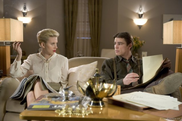 With Josh Hartnett in The Black Dahlia.