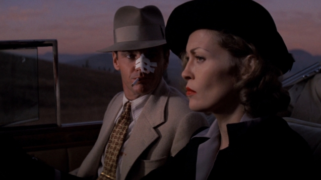 Jack Nicholson and Faye Dunaway in Chinatown.