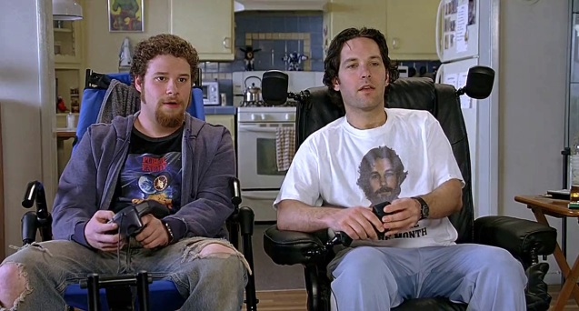 Seth Rogen and Paul Rudd in The 40 Year Old Virgin.