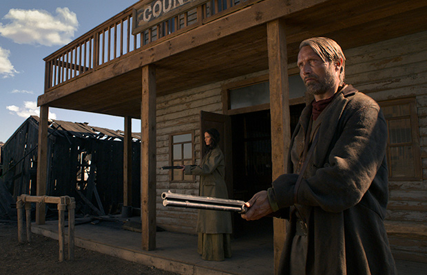 Eva Green and Mads Mikkelsen in The Salvation (2014)