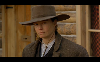 "Cross-dressing survivor: Suzy Amis as ""Josephine Monaghan"" in The Ballad of Little Jo (1993)"