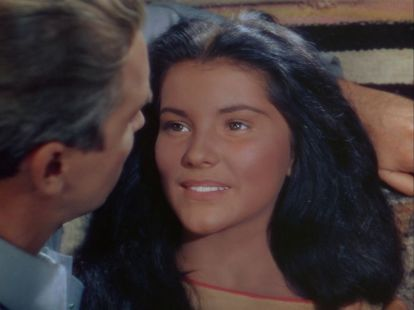 "Apache: Debra Paget as ""Sonseeahray"" in Broken Arrow (1950)"