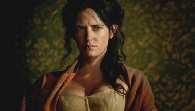 "Scarred survivor: Eva Green as ""Madelaine"" in The Salvation (2014)"