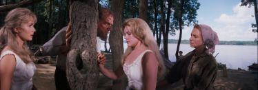 "Husband hunters: Debbie Reynolds as ""Lillith Prescott, Carroll Baker as ""Eve Prescott"" & Agnes Moorehead as ""Rebecca Prescott"" in How the West Was Won (1962)"