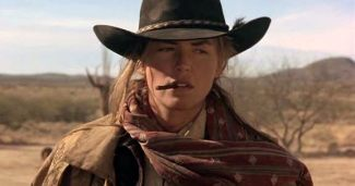 "Avenging gunslinger: Sharon Stone as ""Ellen"" aka ""The Lady"" in The Quick and the Dead (1995)"
