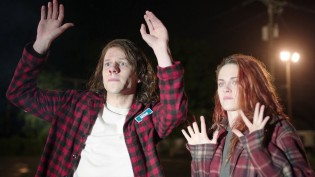 With Jesse Eisenberg in American Ultra (2015)