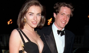 With Elizabeth Hurley at the première of Four Weddings and a Funeral (1994)