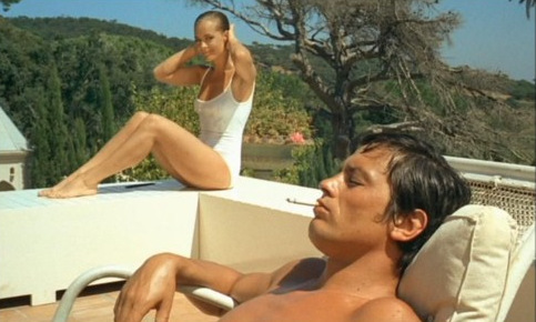 Romy Schneider and Alain Delon in La Piscine (1969)