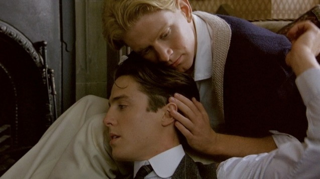 With James Wilby in Maurice (1987)