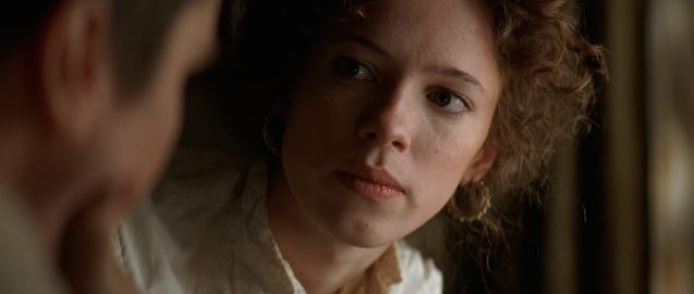 Rebecca Hall in The Prestige. Sorry, she's doomed!