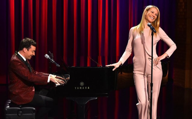 Paltrow with Jimmy Fallon (2015) Photo: Getty