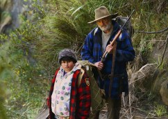 "This image released by The Orchard shows Julian Dennison, left, and Sam Neill in a scene from ""Hunt For The Wilderpeople."" (The Orchard via AP)"