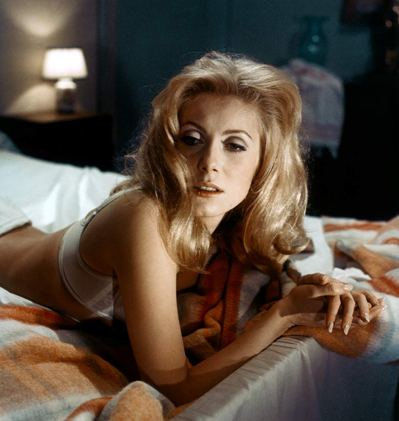 deneuve on bed
