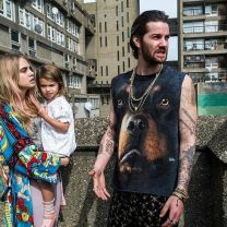 Jim Sturgess with Cara Delevingne (and Trellick Tower) in London Fields (2018)
